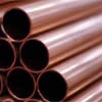 Copper pipes in straight lengths for industial use